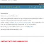 Art Show Alert